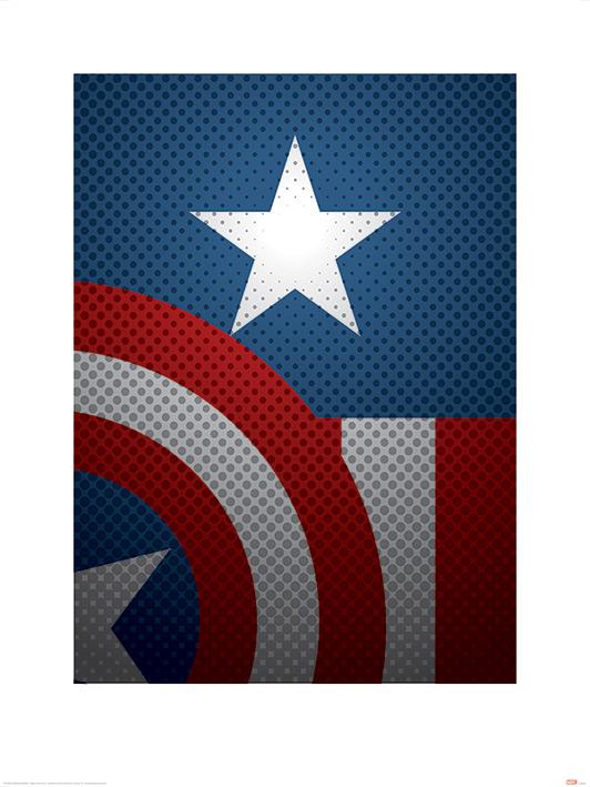 AVENGERS ASSEMBLE -  CAPTAIN AMERICA TORSO - ART PRINTS