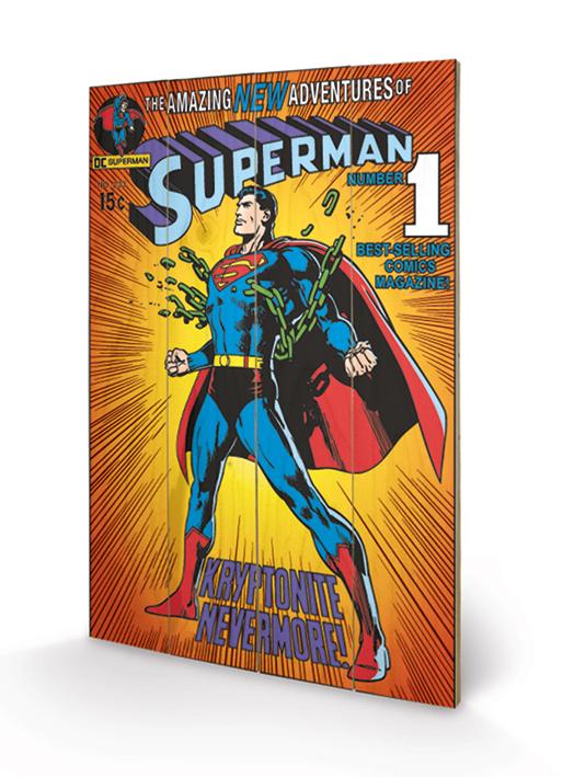 DC COMICS - SUPERMAN - KYRPTONITE - WOOD PRINTS - STAMPA SU LEGNO