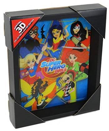 DC SUPER HERO GIRLS - STAR - QUADRO IMMAGINE 3D LENTICULAR 24x29cm CON CORNICE