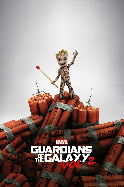 GUARDIANS OF THE GALAXY VOL. 2 -  GROOT DYNAMITE - MAXI POSTER #16 - 61x91 cm