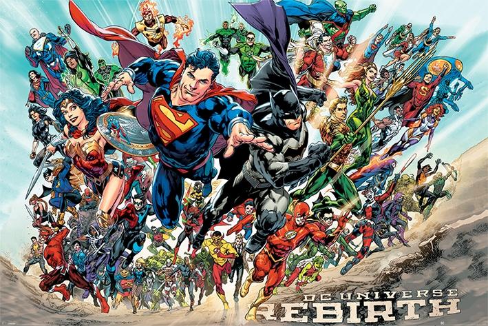 DC COMICS - JUSTICE LEAGUE - REBIRTH - MAXI POSTER #147 - 61x91 cm Orizzontale