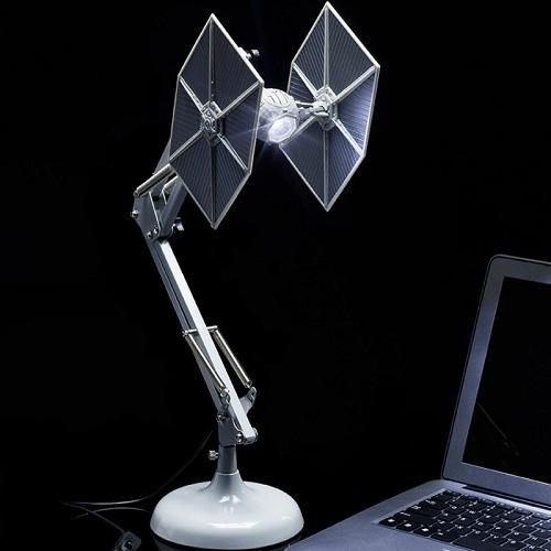 STAR WARS - TIE FIGHTER  Lampada da Tavolo Led 60cm USB Posizionabile Altamente Dettagliata