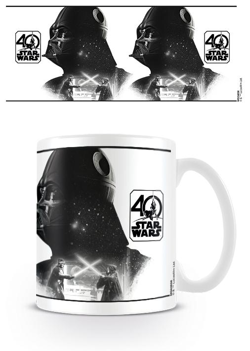 STAR WARS 40TH ANNIVERSARY - DARTH VADER - COFFEE MUGS - TAZZA