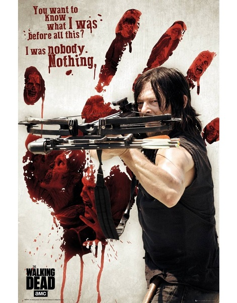 THE WALKING DEAD - DARYL BLOODY HAND - Maxi Poster #201 - 61x91 cm su carta da 150gr