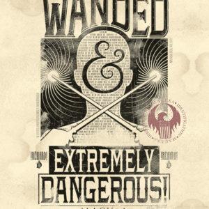 ANIMALI FANTASTICI - EXTREMELY DANGEROUS - Mini Poster 40x50 cm su carta da 150gr