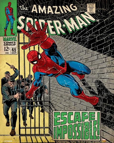 MARVEL - SPIDERMAN: ESCAPE IMPOSSIBLE - Mini Poster 40x50 cm su carta da 150gr Supereroi