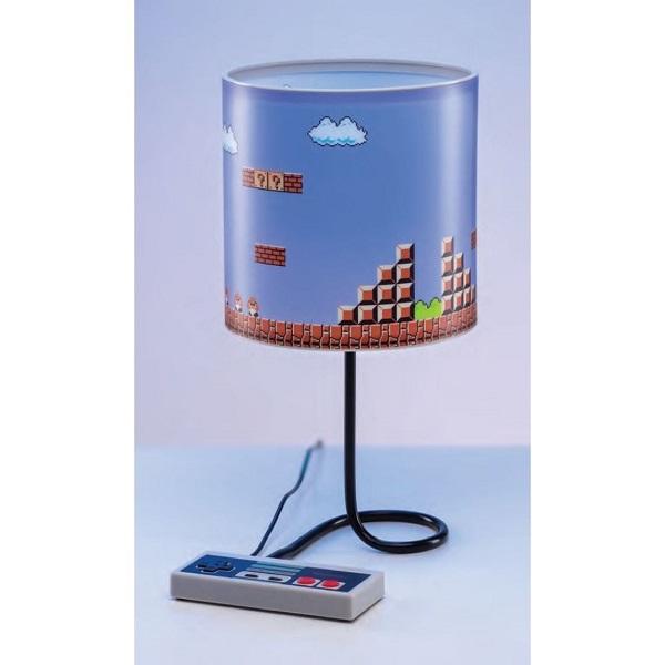 NINTENDO NES SUPER MARIO - Lampada da Tavolo USB 30cm Luminosità Regolabile