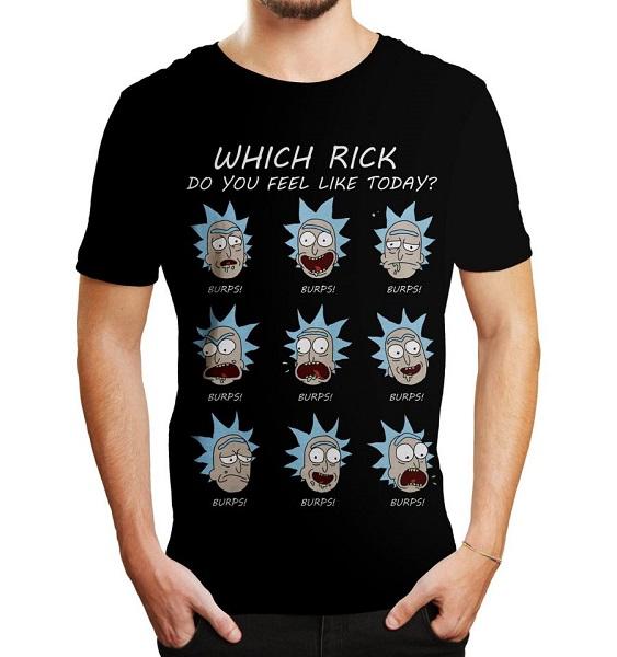 RICK E MORTY - WITCH RICK - T-SHIRT Nero Taglia M - 100% Cotone