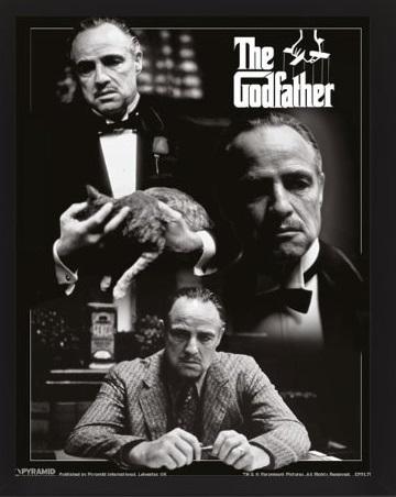 IL PADRINO (The Godfather) - MONTAGE - Quadro Immagine 3D Lenticular 22x27cm Con Cornice in Legno CDM