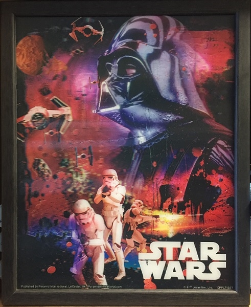 STAR WARS - JOIN THE EMPIRE - Quadro Immagine 3D Lenticular 22x27 cm Con Cornice in Legno