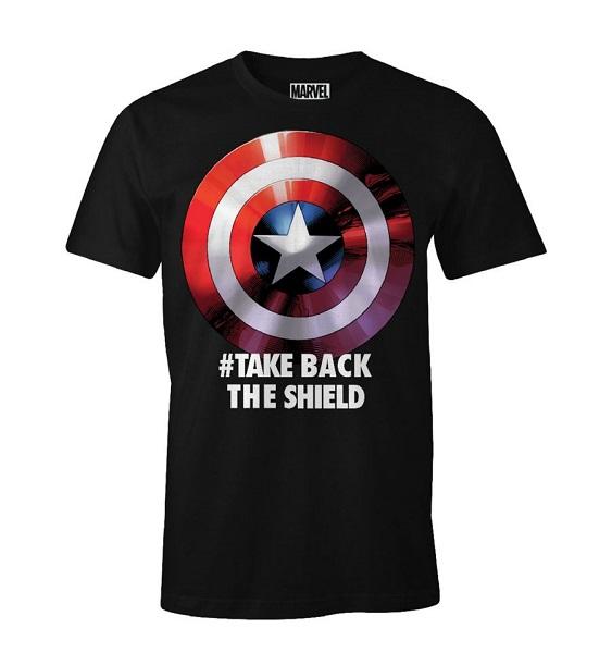 CAPTAIN AMERICA - TAKE BACK THE SHIELD - T-SHIRT Nero Taglia XXL - 100% Cotone