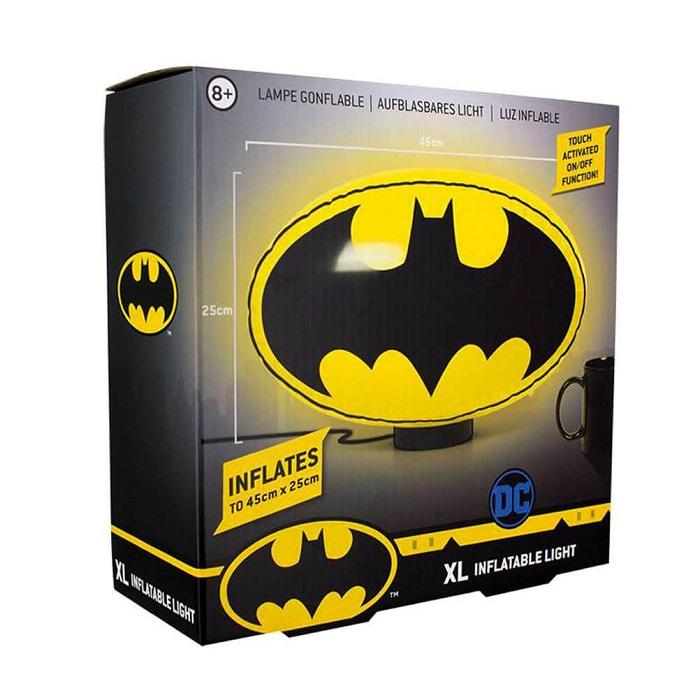 DC COMICS - BATMAN LAMPADA GONFIABILE - Lampada d'Ambiente 46x25 cm (USB + Batterie)