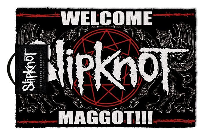 SLIPKNOT - WELCOME MAGGOT - Zerbino 60x40 cm in Fibra di Cocco (Doormat)