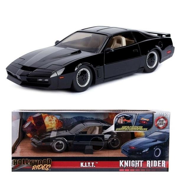 SUPERCAR - K.I.T.T. KNIGHT RIDER 1982 Pontiac Firebird 1/24 Die Cast Modellino in Metallo 22cm con Luce Anteriore - JADA