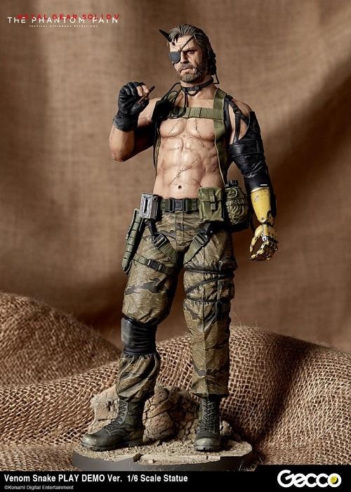 Metal Gear Solid V - VENOM SNAKE Play Demo  Statua 32 cm Scala 1/6 (Phantom Pain) - Gecco