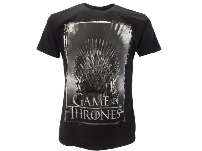 GAME OF THRONES (Tono di Spade) TRONO - T-Shirt Nero Taglia M - 100% Cotone Manica Corta