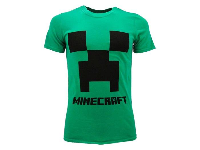 MINECRAFT - T-Shirt Verde Taglia M - 100% Cotone Manica Corta