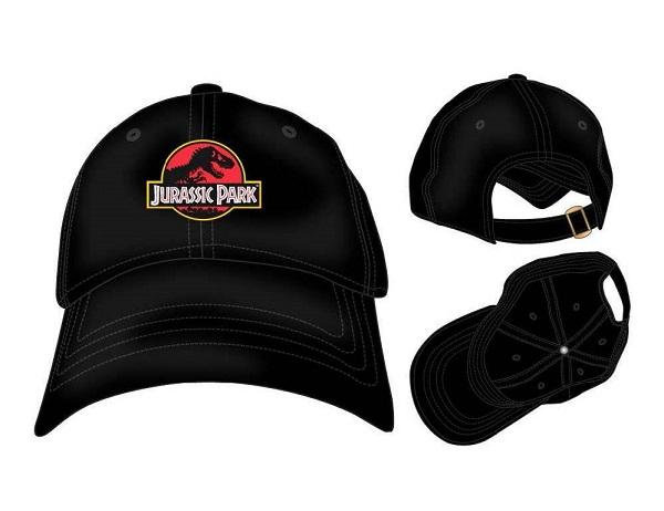JURASSIC PARK DAD CAP LOGO - Baseball Cap Berretto Visiera Arrotondata Nero Regolabile Cotone