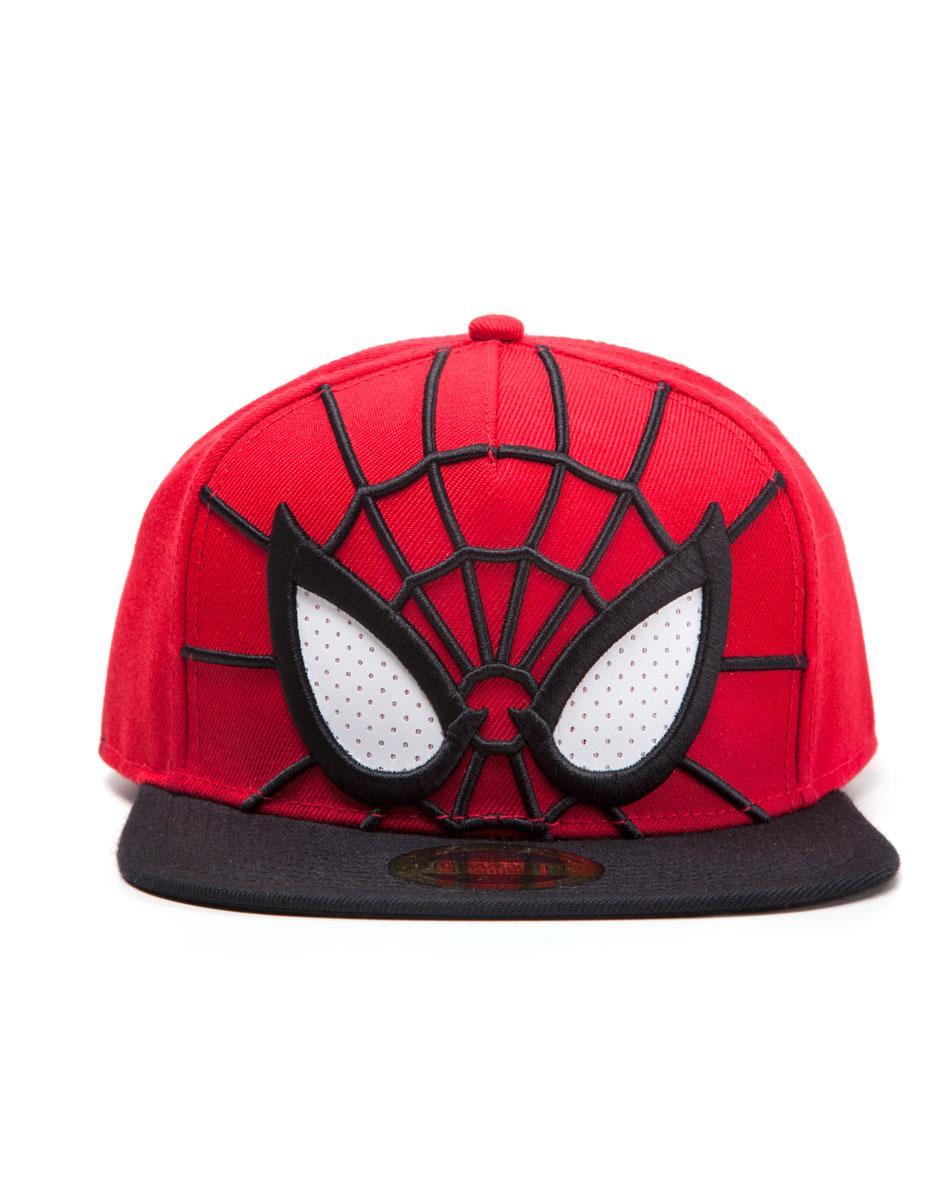 MARVEL - SPIDER-MAN EYES - Berretto Visiera Piatta Rosso Regolabile (Snapback Cap)