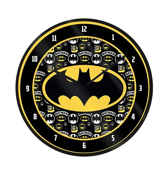 BATMAN - BATMAN LOGO - Orologio da Parete in Plastica Diam.25cm Prodotto Ufficiale CDM