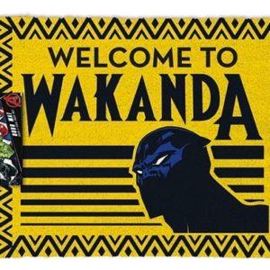 BLACK PANTHER - WELCOME TO WAKANDA - Zerbino 60x40 cm in Fibra di Cocco (Doormat)