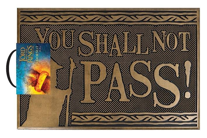 SIGNORE DEGLI ANELLI - YOU SHALL NOT PASS! - Zerbino in Gomma 60x40 cm - Rubber Mat