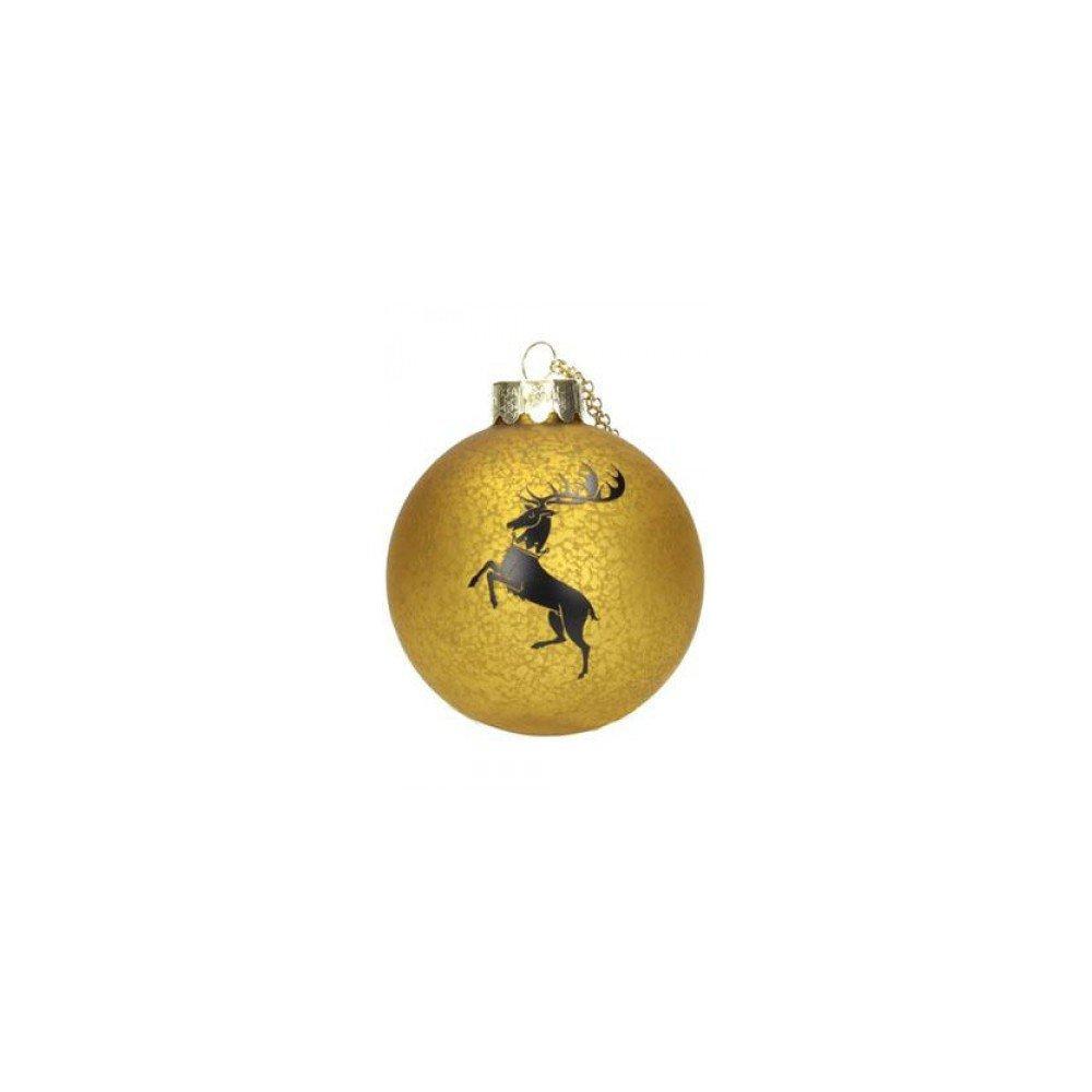 GAME OF THRONES - BARATHEON CHRISTMAS BALL - Palla Decorativa per Albero di Natale Trono di Spade