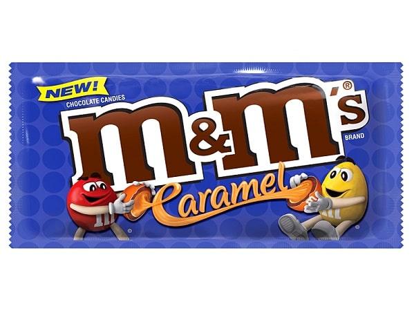 M&M's CARAMEL - Confetti al Cioccolato con Ripieno al Caramello 40g Snack Americano