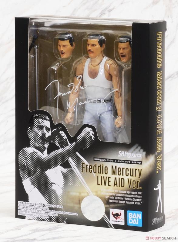 FREDDIE MERCURY LIVE AID Ver. S.H. Figuarts Action Figure 16cm BANDAI Tamashii