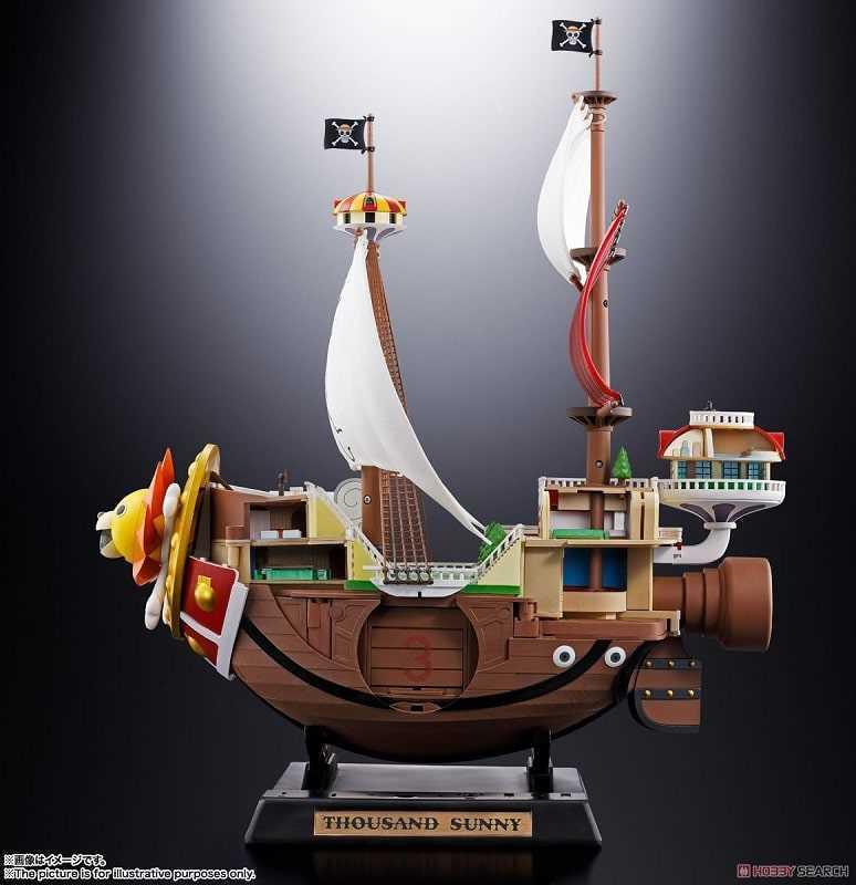 BANDAI ONE PIECE THOUSAND SUNNY - Chogokin Diecast in Metallo e Plastica 38cm Modellino Nave
