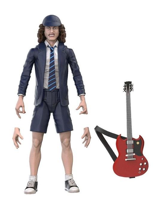 AC/DC BST AXN ANGUS YOUNG - Action Figure 13 cm  Articolata con Accessori