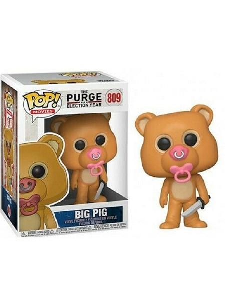 Funko POP! Movies - The Purge: Election Year (La Notte del Giudizio) #809 BIG PIG con PROTECTOR BOX - Figure in Vinile 9 cm