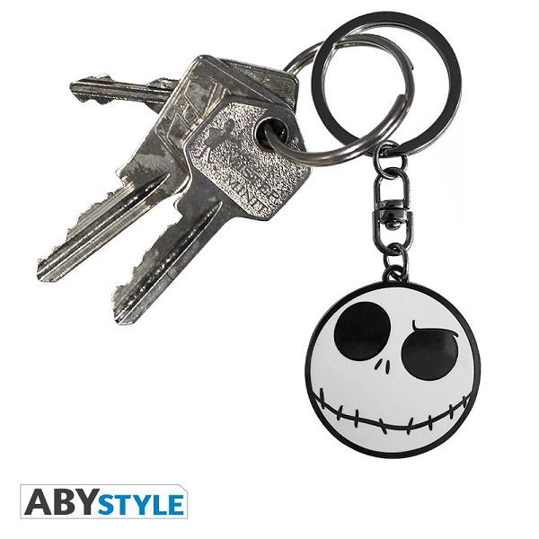 NBX NIGHTMARE BEFORE CHRISTMAS - JACK HEAD - Portachiavi in Metallo 4 cm - Abystyle Keychain