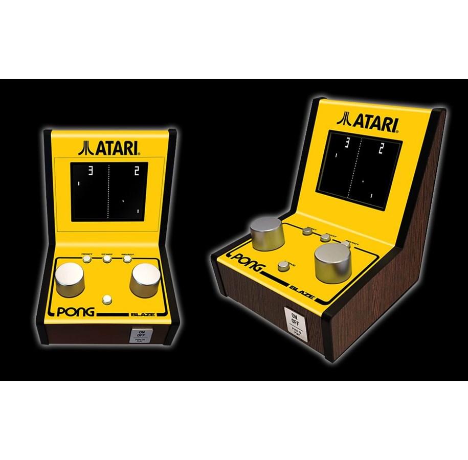 ATARI MINI ARCADE- PONG - Videogioco Anni 80 con 5 Giochi Classici Manopole Schermo a Colori e Suoni