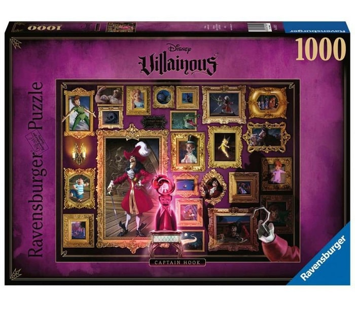 DISNEY VILLAINOUS - CAPITAN UNCINO (Peter Pan) Puzzle 1000 Pezzi 70x50 cm RAVENSBURGER 150229