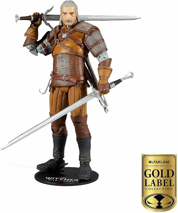 The Witcher - GERALT OF RIVIA GOLD LABEL COLLECTION Action Figure 18cm McFarlane Toys Dettagliata Articolata con Accessori