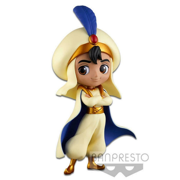Banpresto QPOSKET - Disney ALADDIN PRINCE STYLE Aladin NORMAL COLOR Figure in PVC Statuina 14cm