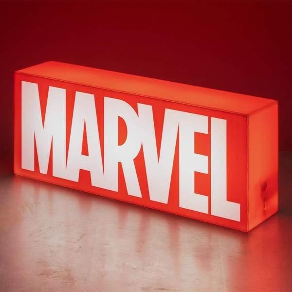 MARVEL LOGO - Lampada da Ambiente 31cm USB + Batterie da Tavolo o Parete - Paladone