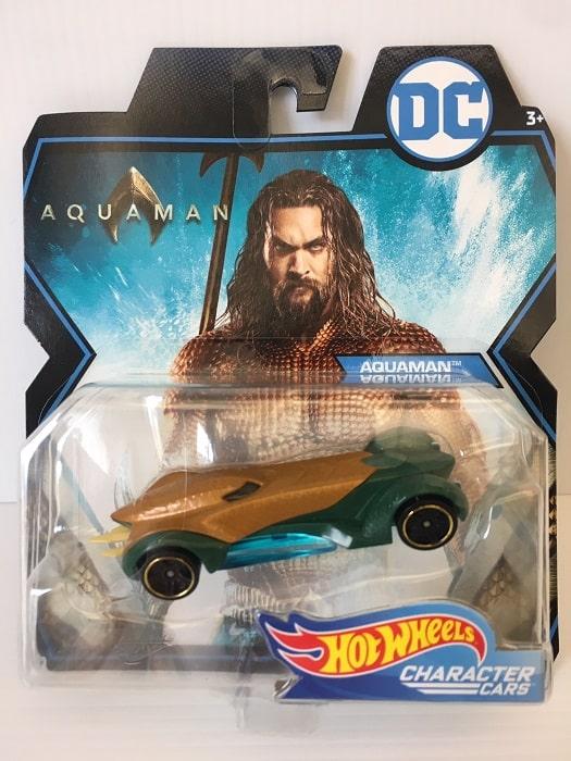 Hot Wheels - DC Comics AQUAMAN Auto Modellino Character Cars Metallo 7cm MATTEL