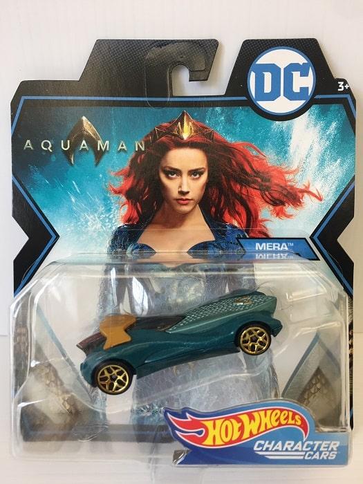 Hot Wheels - DC Comics MERA (Aquaman) Auto Modellino Character Cars Metallo 7cm MATTEL