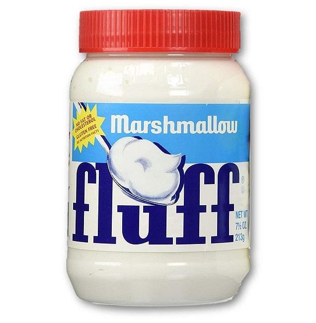 MARSHMALLOW FLUFF - Crema Spalmabile - Confetti al Cioccolato Ripieni di Croccante Pretzel Dolce e Salato 32g Snack Americano