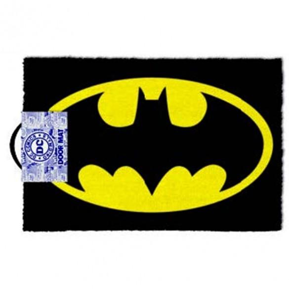 BATMAN LOGO COLOR (Nero e Giallo) - Zerbino in Fibra di Cocco 60x40 DOORMAT