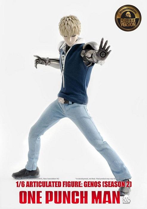One Punch Man GENOS Season 2 FigZero Action Figure 1/6 Deluxe 30cm con Luci Led - Threezero