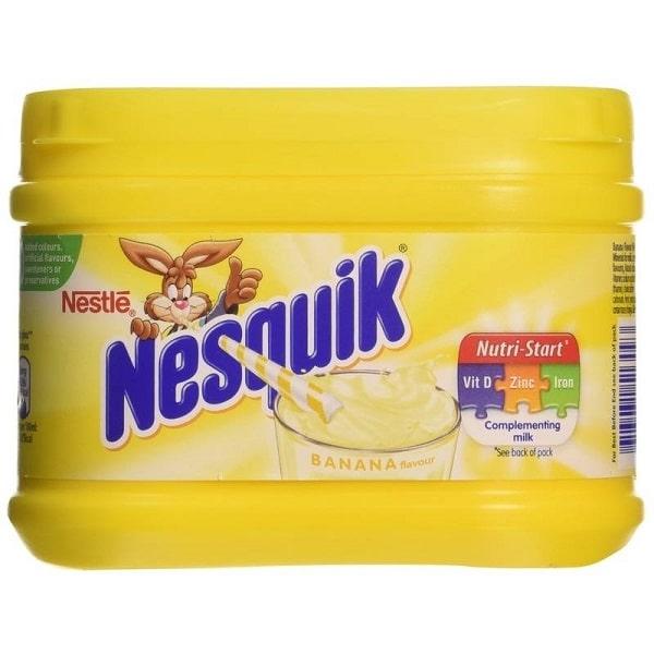 NESQUIK BANANA - Milkshake Gusto Banana Preparato per Latte 300g American Food