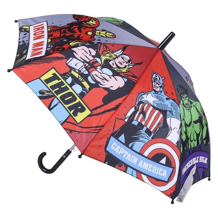 Marvel - AVENGERS Super Eroi Ombrello Automatico per Bambini 80cm Iron Man Thor Hulk - Cerdà