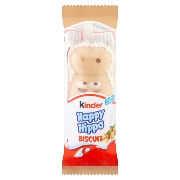 Kinder HAPPY HIPPO NOCCIOLA Cialda Wafer con Granella e Crema di Nocciole 20g Snack Americano Dolce