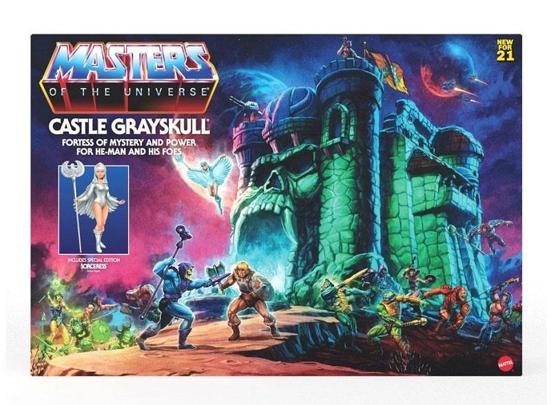 Masters of the Universe CASTELLO DI GRAYSKULL Origins 2021 con SORCERESS Action Figure Retro MATTEL
