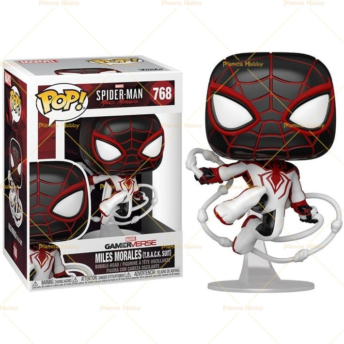 Funko POP! Marvel Gamerverse - Spider-Man #768 MILES MORALES TRACK SUIT con PROTECTOR BOX - Figure in Vinile 9 cm