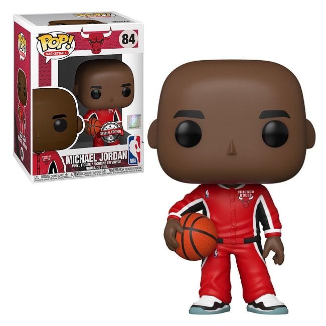 Funko Pop! Basketball NBA #84 MICHAEL JORDAN RED WARM con PROTECTOR BOX Figure in Vinile 9cm