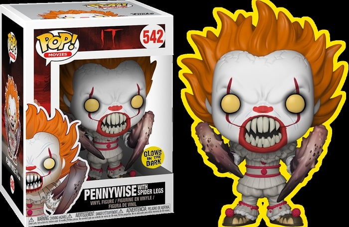 Funko Pop! Movie - IT Movie #542 PENNYWISE SPIDER LEGS Limited GITD con PROTECTOR BOX Figure in Vinile 9cm